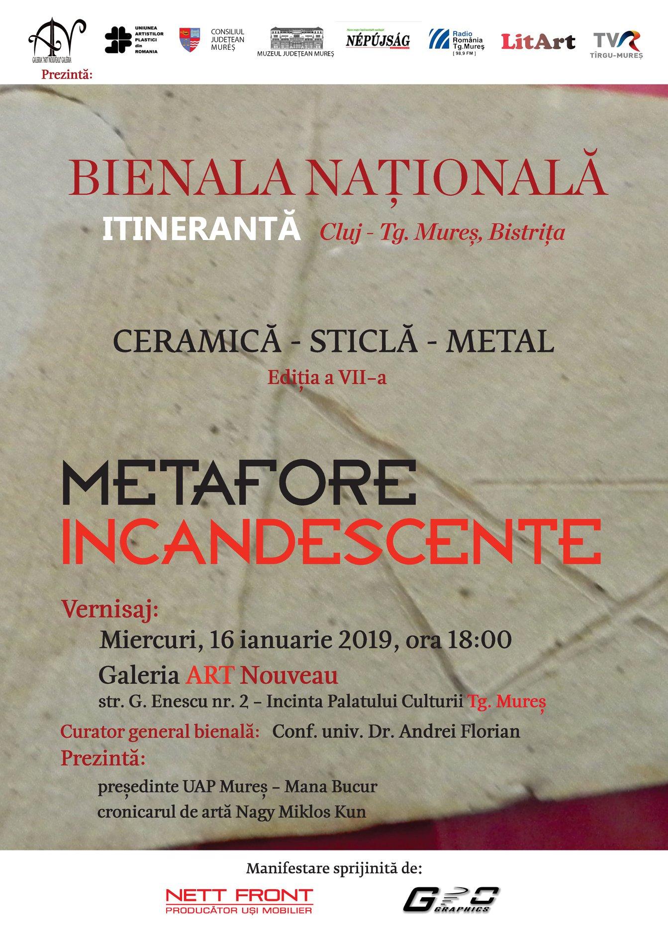 Bienala națională: ceramică-sticlă-metal